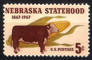 USA. 1967. 5 Cents. Nebraska Statehood (Nuevo/New)
