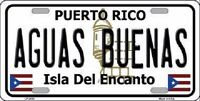 Aguas Buenas Puerto Rico Metal Novelty License Plate