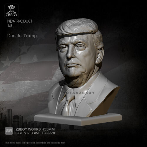 1//35 55MM Donald Trump Unpainted Bust Resin Figure Model Kit Unassembled GK