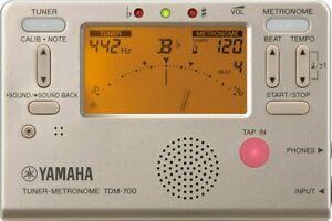 Yamaha Japon Accordeur Tout Instruments Cordes de Vents Métronome TDM-700G Doré