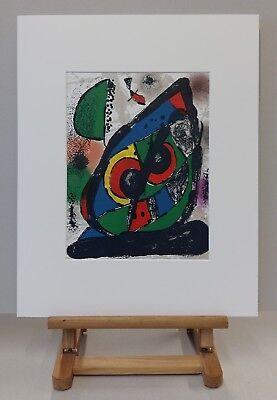 Joan MIRO Abstrakte Komposition 1893-1983 Original Lithographie 1981 #1256