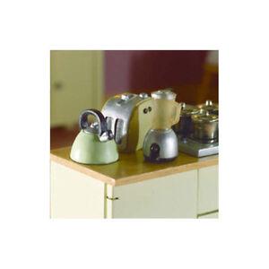Fiable Dolls House 3811 Grille-pain, Bouilloire, Mixeur 1:12 Pour Maison De Poupée Nouveau! #-afficher Le Titre D'origine