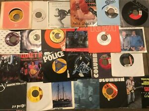 "Lot of 70-80s Rock Pop Mix (16) NM Records 7"" Single 45 rpm Jukebox w/ Sleeve"
