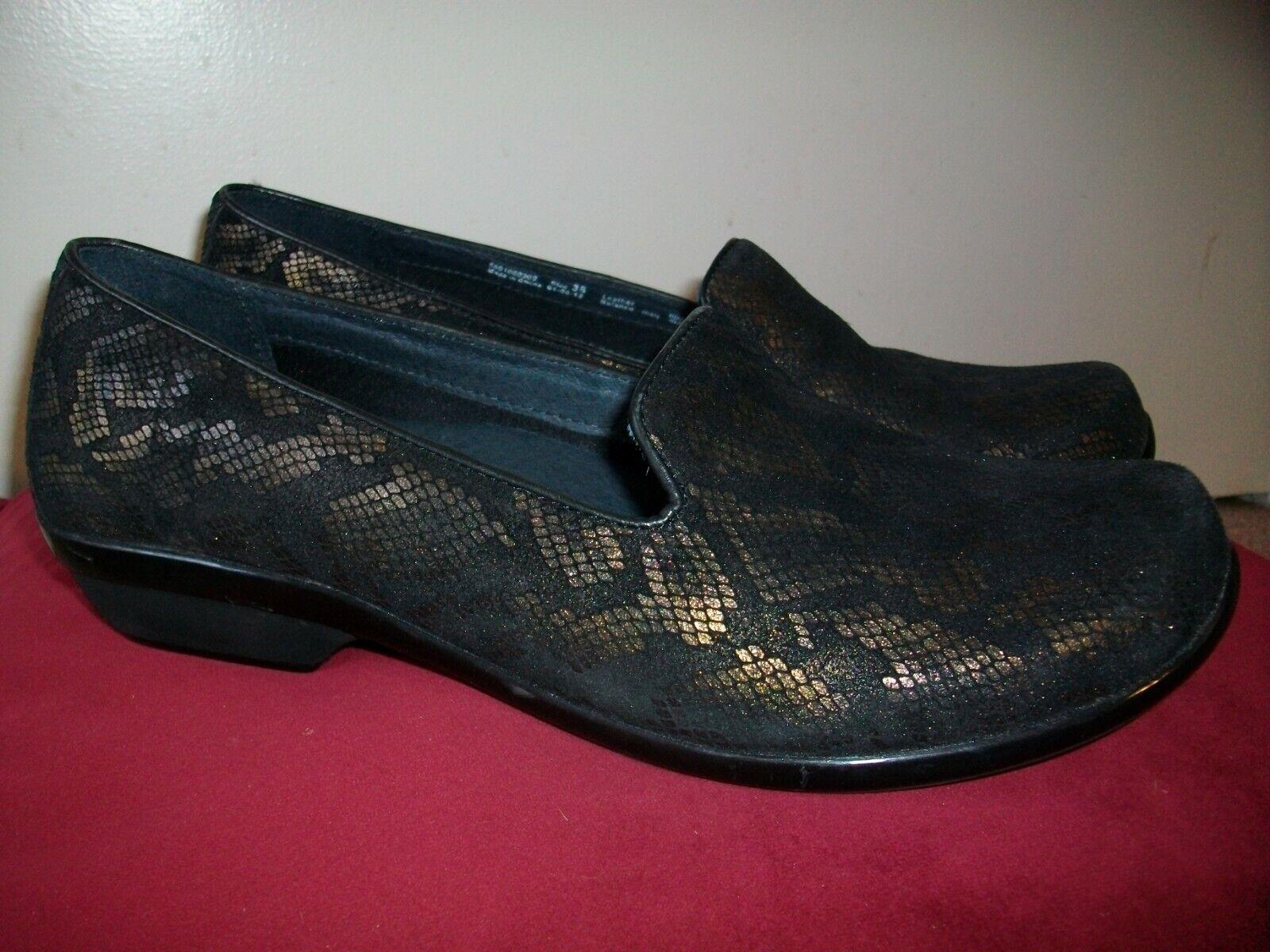 New Women's Dansko Olivia Bronze Snake Leather Flats Slip-On shoes 38M US 7.5-8