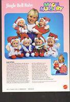Vintage Ad Sheet 1449 - Magic Nursery Jingle Bell Baby Doll