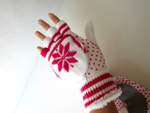 STRETCHY GLOVES NEW SIZE ONE FITS MOST ISOTONER WMNS WINTER GLOVES CUT MITTENS