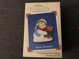 Hallmark-Keepsake-Snow-Buddies-Christmas-Ornament-2002-5-In-Series-Snowman-Bear