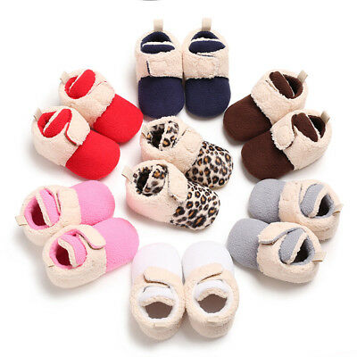 Baby Girl Boy Soft Booties Multi Color Splicing Snow Boots Toddler Warm Shoes US