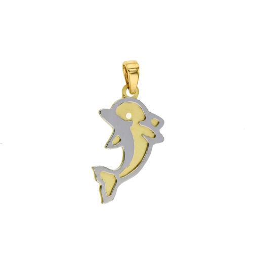 Goldanhänger Delphin Tier 585 Gold Anhänger Kettenanhänger 14Karat Schmuck 2786