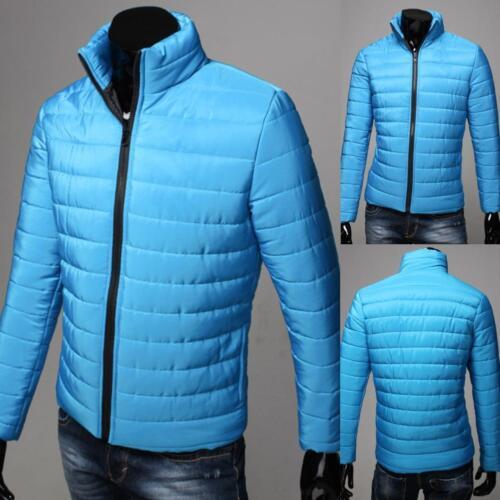 Herren Mantel Warme Jacke Lässige Stehkragen Mantel Warm Wattierte Jacke