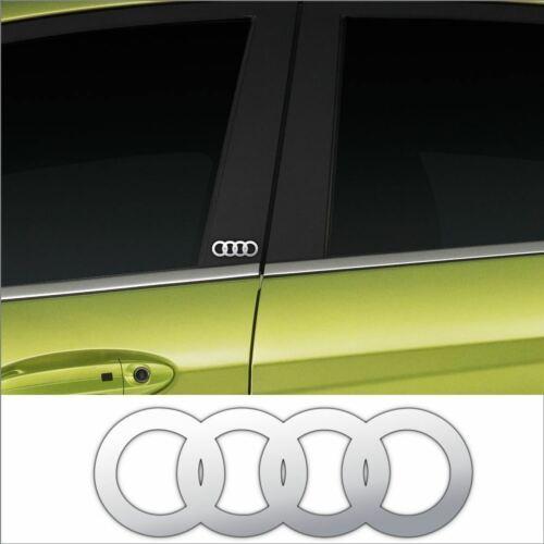 A4 A3 Audi A2 A6 Chrome Vinyl Car Door Pillar Decals X2