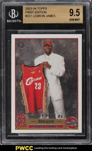 2003 Topps Basketball First Edition Lebron James ROOKIE RC #221 BGS 9.5 GEM MINT