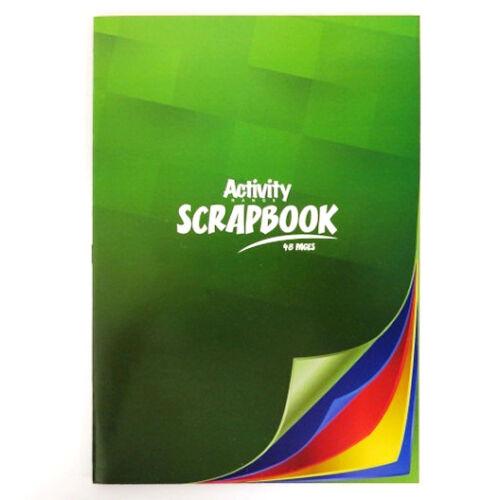 4 Colours 48 Pages A4 Premier Activity Scrapbook Mixed Colour Pages