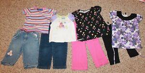8-piece-lot-Girls-039-2T-2-PIECE-OUTFITS-shirts-w-pants-EUC