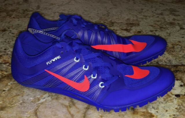 4ebfbf1fd5aa NIKE JA Fly 2 Racer Blue Crimson Track Sprint Spikes Shoes Mens Sz 10 11 12