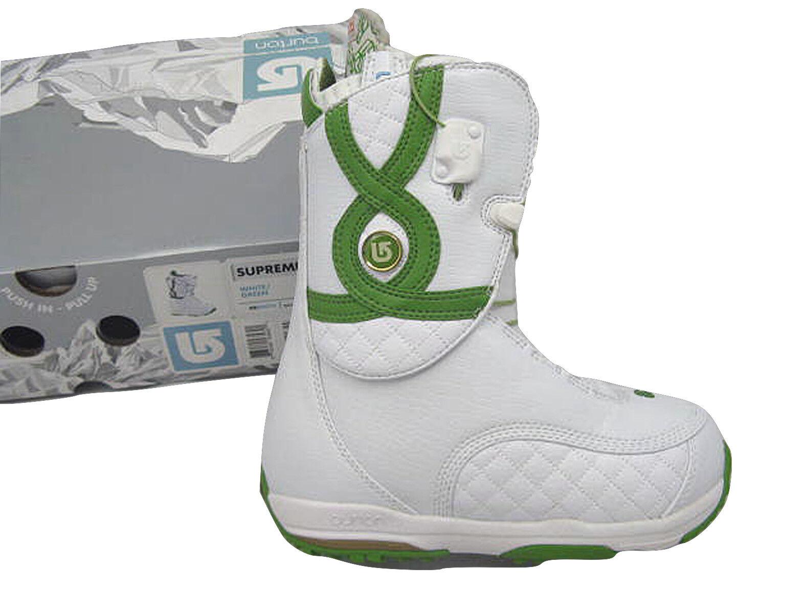 NEW  330 Burton Supreme Snowboard Boots   US 4 Euro 34 Mondo 21  WHITE