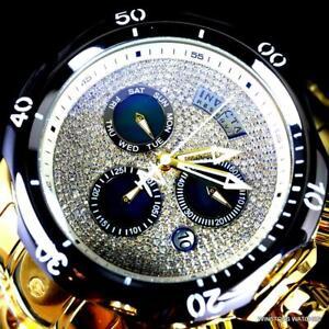 Invicta-Reserve-Venom-1-7-CTW-Diamond-Swiss-Mvt-High-Polish-Gold-Plate-Watch-New