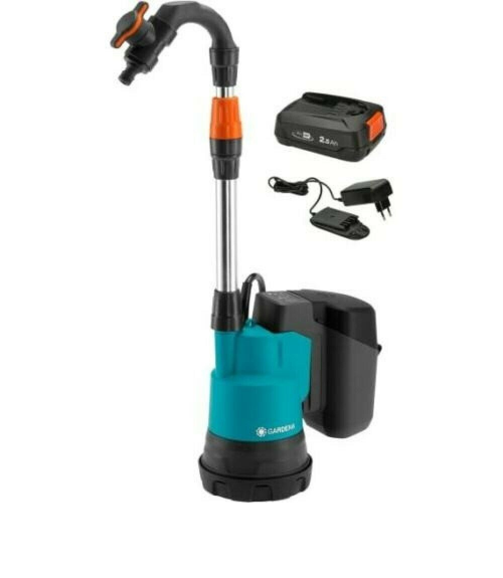 Gardena battery rain barrel pump 2000/2 18V P4A incl. Battery & charger 14602-61