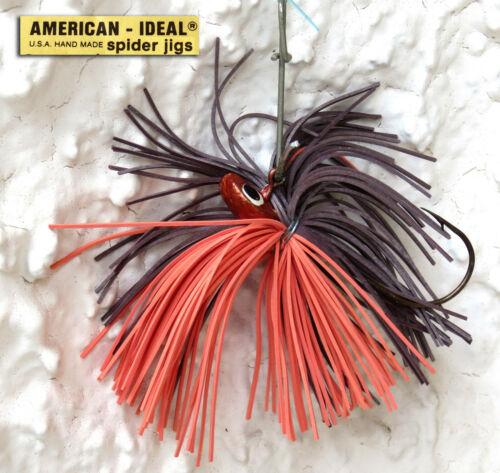 Fischerei Lockmittel Jig American Ideal Broxn Orange 6,5 Gramm
