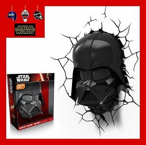 3d Fx Led Wall Deco Light Star Wars Darth Vader Helmet And Or Lightsaber Ebay