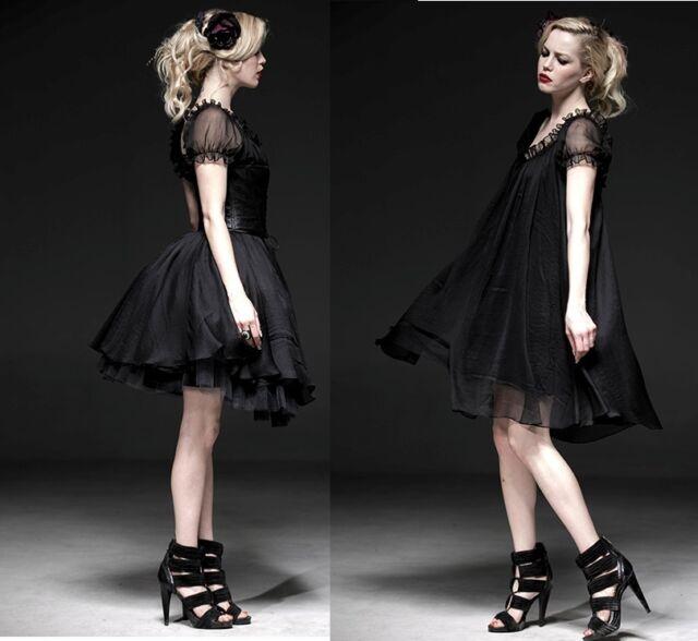 Pyon Punk Rave Gothic SET Kleid Korsage corset Gürtel Shirt Steampunk Dress Q067