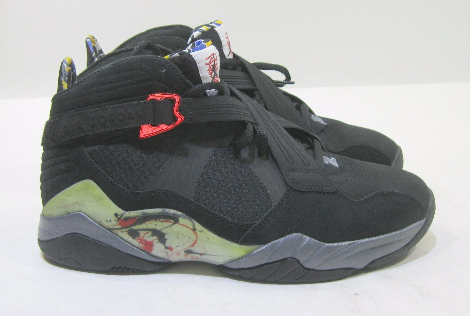 New  Air Jordan 8.0 467807 010 Black Varsity Red-Flint Grey 2011 Size 10.5