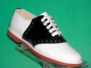 Muffy-039-s-Classic-Black-white-leather-Saddle-Shoes-US-Women-039-s-sizes-5-12-250