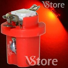 2 LED Per Cruscotto Quadro Strumenti T5 B8.5D SMD Rosso Lampade Luci Lampadine