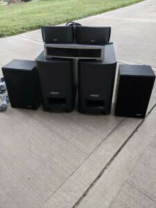 BOSE-321-SERIES-II-HOME-THEATER-SYSTEM-W-REMOTE-EXTRA-SUBWOOFER-amp-SPEAKERS