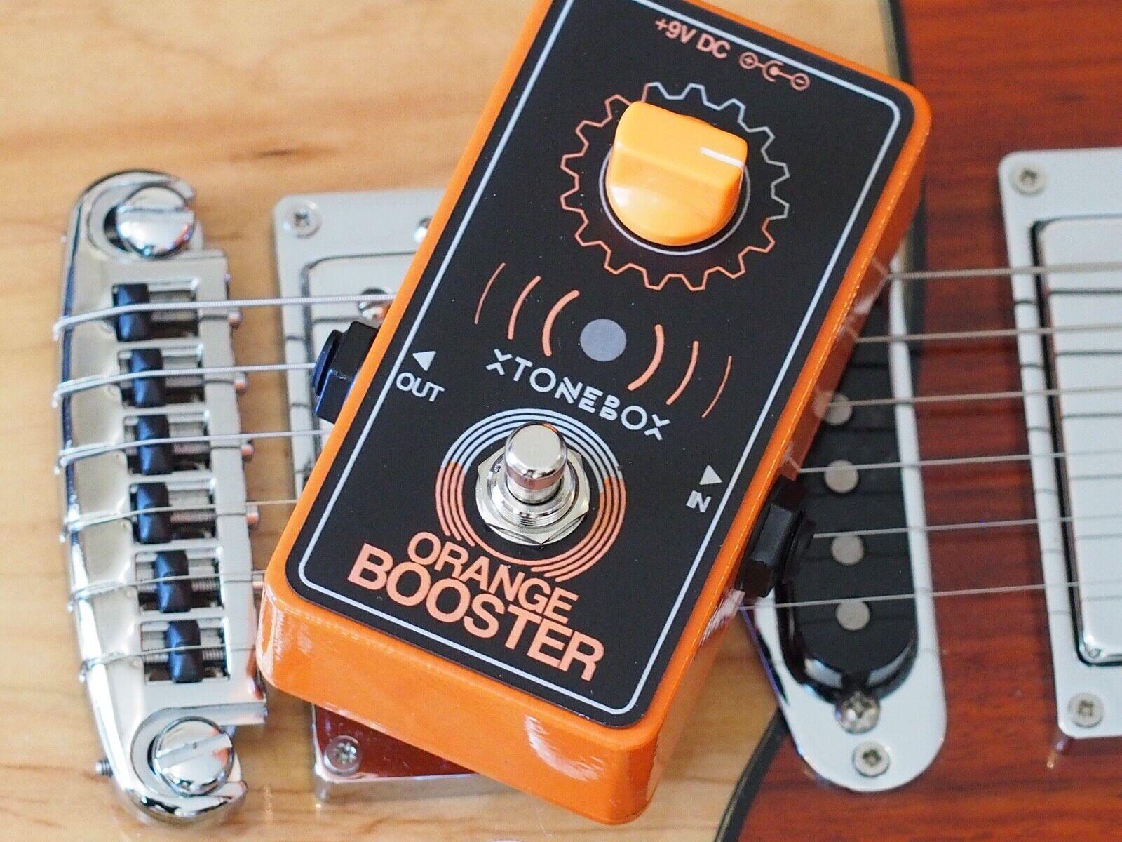 Xtonebox Boutique Orange Booster Guitar Pedal