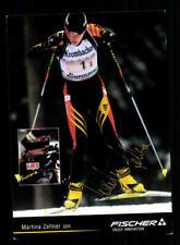 Martina Zellner Autogrammkarte Original Signiert Biathlon + A 211918
