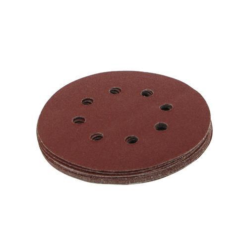 Qté 10-125mm 5 Pouces disques de ponçage perforées 60 grain-Orbit Sander-Crochet /& Boucle