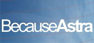 BECAUSE-ASTRA-Novelty-Car-Window-Bumper-Sticker-Decal-Ideal-For-Vauxhall-Opel