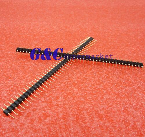 10PCS 40 Pin 2.54mm Single Row  Round Male Pin Header machined J8
