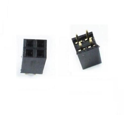 30PCS 2X2 Pin 4P 2.54mm Double Row Female Straight Header Pin Strip 2x2p