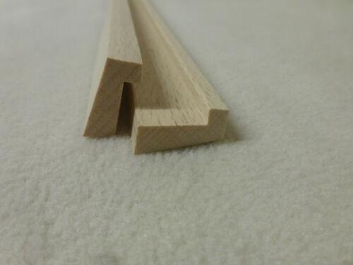 1Stk in 100cm Falzleiste Buche 12x22mm Holzleisten Glasleiste 11.02
