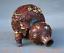 8-034-Vieille-Chine-rouge-Cuivre-Dore-prune-fleur-Bambou-Fleur-Gourdes-Vase miniature 10