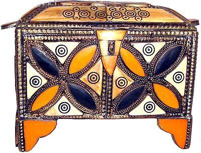 Beautifull Moroccan Camel Bone Jewelry Box 42 Brass chest Henna GREAT GIFT IDEA
