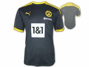 Puma-BVB-Training-Jersey-grau-Borussia-Dortmund-Fan-Shirt-BVB09-Trikot-S-3XL