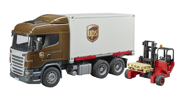 Bruder Scania Laster LKW UPS mit Stapler 03581 NEU OVP
