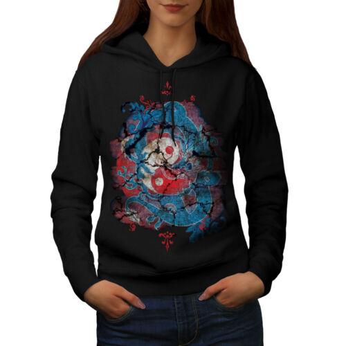Wellcoda Mystic Fantasy Yin Yang Womens Hoodie Male Casual Hooded Sweatshirt