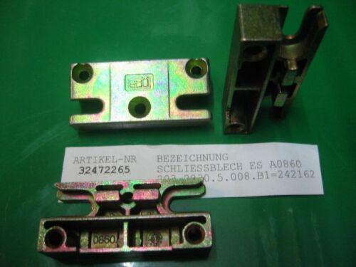 A0860 für Pilzkopf Verschluss SI SIEGENIA Sicherheits Schliessblech ES 860