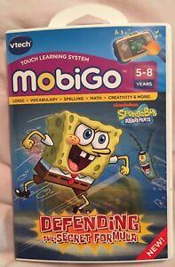 Vtech mobigo touch learning system SpongeBob Square Pants Ages 5-8.EXCELLENT