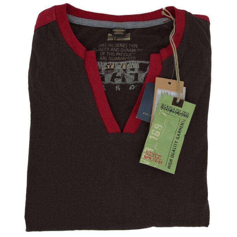Jersey T-Shirt Lange Ärmel Frau Napapijri V-Ausschnitt