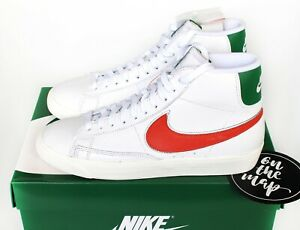 Nike-X-Stranger-Things-Blazer-Mid-QS-HH-White-Green-UK-5-6-7-8-9-10-11-12-US-New