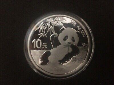 2020 Silver Chinese Silver Panda Coin 30 Gram 999 Fine Silver w// Coin Capsule