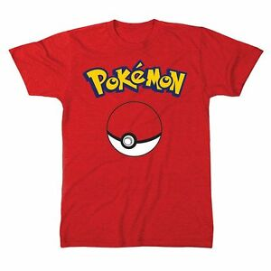 Taglia Pokemon Uomo Rosso Shirt Maglietta Pikachu Pika T L Adulto I76gYyvfb