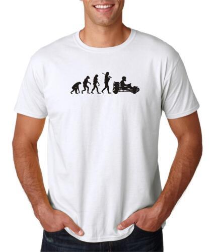 Hot4TShirts Evolution of Go Kart Driver Racing Karting T-Shirt For Men