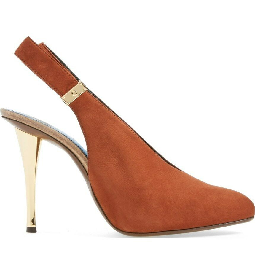 NIB  1,190+ LANVIN Suede Slingback Slingback Slingback Pump Brown Suede Leather Heel shoes 6.5 - 36.5 9ad43c