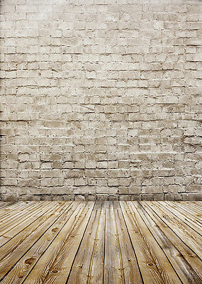 1,5x2,1m Retro Foto Studio Hintergrund Vinyl Wand Holz Background Backdrop 3x7FT